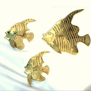 🔥NEW!🔥 VINTAGE SET OF 3 BRASS FISH WALL HANGINGS